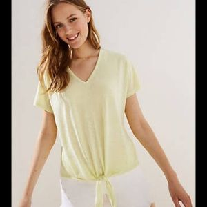 NWT | Adorable Tie Hem Dolman Tee in Yellow | LOFT